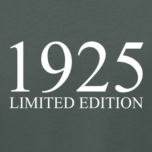 1925 Limierte Auflage / Limited Edition - 92. Geburtstag - Damen T-Shirt - 14 Farben Dunkelgrau
