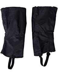 ZCSMg 1 pair Waterproof Outdoor Hiking Climbing Snow Sand Legging Gaiters Leg Covers (M Size,Black)