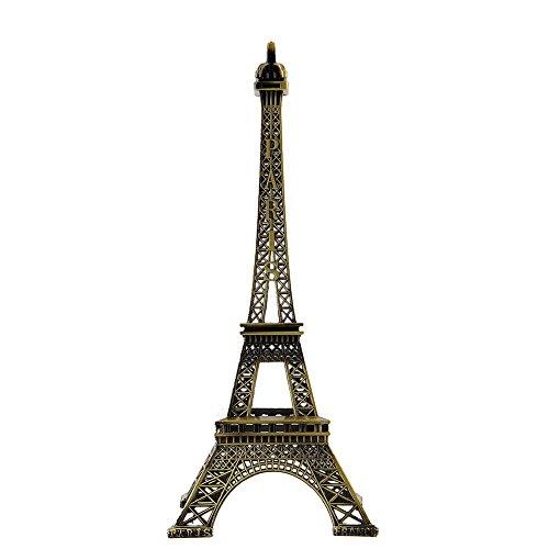 Forfar Eiffelturm Figurine 25cm Bronze Ton Metall Paris Eiffelturm Figur Statue Office Home Decors Antike Nachahmung Modell Souvenir