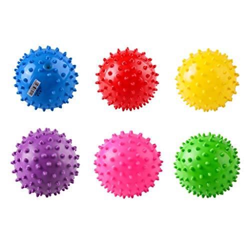 siyushop 6pcs bambino set con texture multi ball set palle sensoriali infantili massaggio soft ball