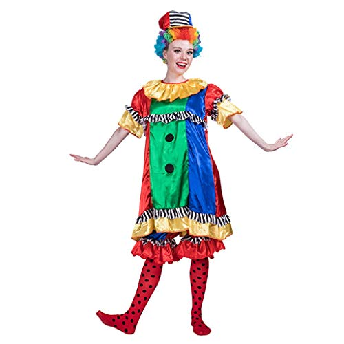 TOYSGAMES - Costume da Clown per Halloween, Cosplay, da Donna, con Cappello Foto. M