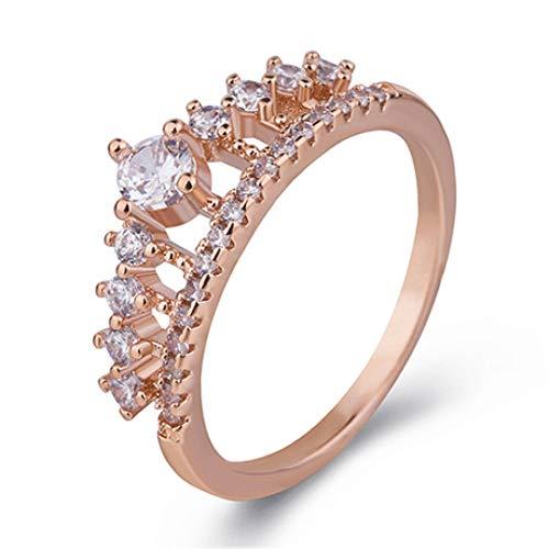Mkxiaowei anello, anello donna, femmina con anello corona
