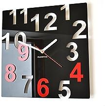 Horloge cuisine rouge - Horloge murale design italien ...