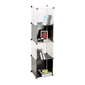 relaxdays regalsystem kunststoff offenes regal. Black Bedroom Furniture Sets. Home Design Ideas
