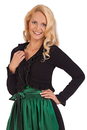 Damen Trachten Bolero - CARMEN - schwarz, Größe 34