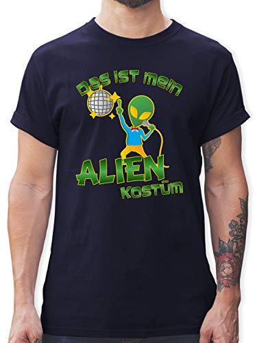 Kinder Disco Tanzen Kostüm - Karneval & Fasching - Das ist Mein Alien Kostüm Disco - L - Navy Blau - L190 - Herren T-Shirt und Männer Tshirt