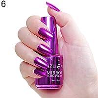 AxssjS Fashion Metallic Nail Polish Magic Mirror Effect Chrome Harmless Long-Lasting Varnish 6#