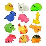 ElecMotive 12 Stück Baby Badespielzeug Badespass Quietsche Dusche Tiere Badewannenspielzeug