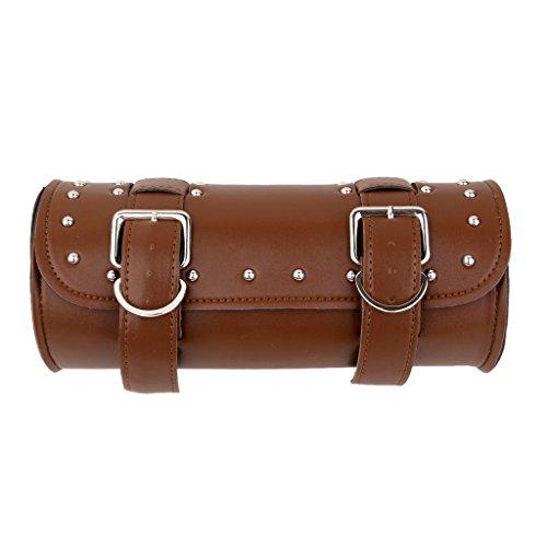 Motorrad Gepäcktasche Satteltasche Werkzeugtasche Rolltasche Braun
