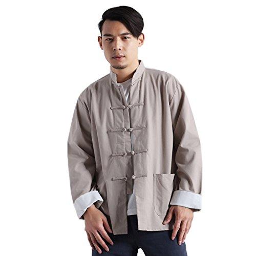 Qiyun.z tuta da uomo con maniche lunghe, abbottonatura a maniche lunghe, abbottonatura classica