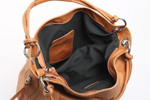 Italiana. Borsa a mano XL Shopper borsa a tracolla in pelle borsa in vera pelle nappa Libera scelta Cognac Nero Marrone Verde, 42x 30x 30cm (B x H x T) Marrone (Cognac)