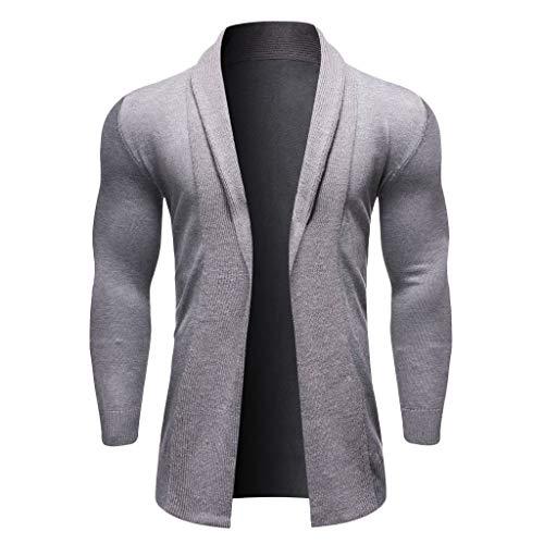 ITISME Herren Strickjacke Cardigan 2019 Lang Strickmantel Sweater Herren Wintermantel Pullover Feinstrick Jacken Knit Trenchcoat Winterpulli Strickwaren Outwear