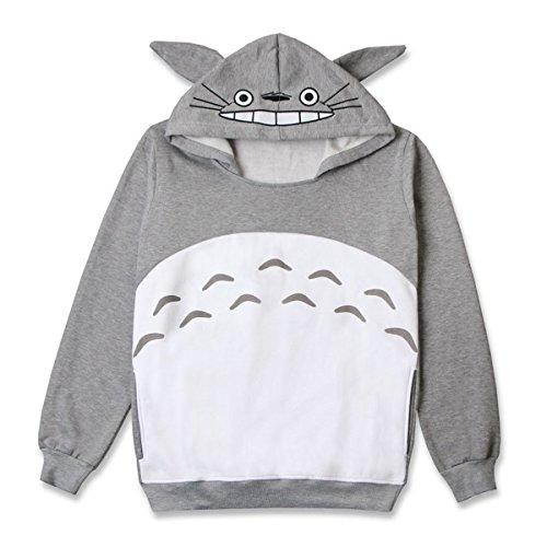 CoolChange kuscheliger Totoro Kapuzen Pullover, Größe: (Ohren Totoro Kostüm)