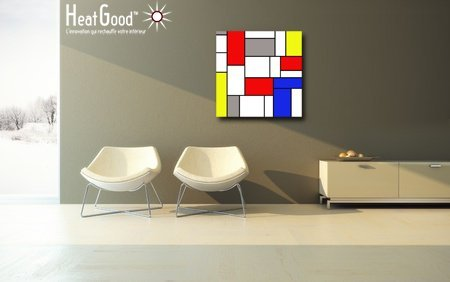 Radiateur Design Tableau d'art 2017 : 350W décor Mondrian - (SANS THERMOSTAT)...