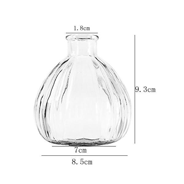 Ruikey Transparente Pequeño florero de Cristal de la chuchería Creativo Pequeño secó la Boca del florero DIY Decoración…