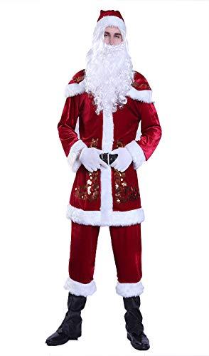 Mit Bezug Büchern Kostüm Zu - Weihnachtsmann Nikolauskostüm Kostüm- Weihnachten Elf Frau für Herren Mit