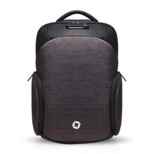 RTGFS Laptop Rucksack, Business Travel Anti-Theft 15,6-Zoll Casual Rucksack mit USB-Ladeanschluss, College School Computer Tasche Arbeitsrucksack für Männer/Frauen, BlauDunkelgrau