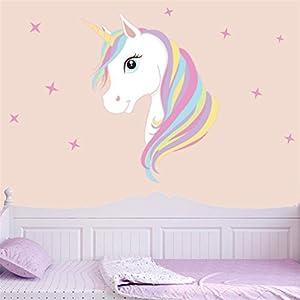 Decoración infantil de pared, unicornio