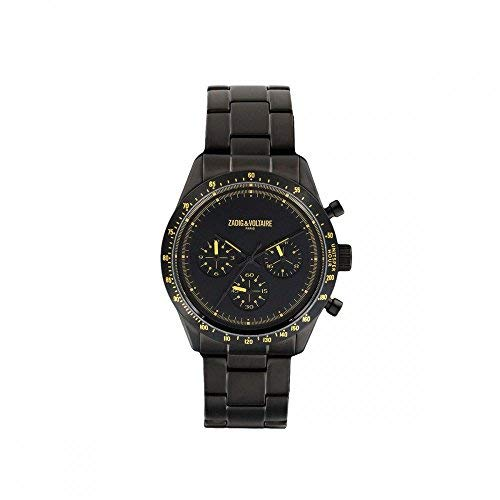 Zadig & Voltaire Reloj Analogico para Unisex de Cuarzo con Correa en Acero Inoxidable ZVM302