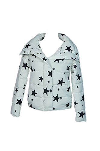 Le Donne Una Manica Lunga Collo Alto Sopra L'inverno Gli Outwear Con Tasca Solido White&Star
