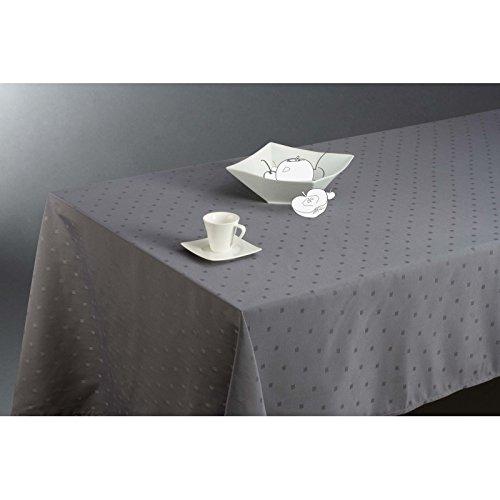 Nappe rectangulaire (L300 cm) Jacquard brodé Gris