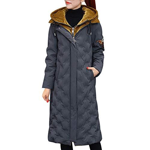 Toasye Ausverkauf Frauen Winter Langarm reißverschluss Jacke, Damen Casual mit Kapuze Mock Zweiteilige Mantel schlank Parka Outwear