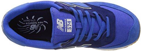 New Balance 574 Vintage, Scarpe da Ginnastica Basse Uomo Blu (Blue)