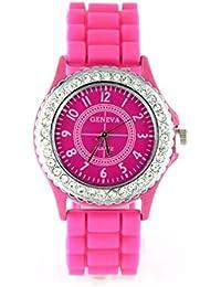 3fb7ada35f13 Reloj Geneva silicona color rosa pedrería My-Montre