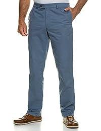 JP 1880 Herren große Größen bis 66 | Chino Hose | Stretch-Hose mit Minimalmuster | 4-Pocket-Schnitt | Gürtelschlaufen, Bundband & Reißverschluss | Regular Fit | blau 60 708300 71-60