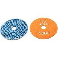 Sourcingmap, a13111800ux1417, Grinta Grindstone 2000, asciutto bagnato Diamante lucidare Pad Disco, Orange (2 pezzi)