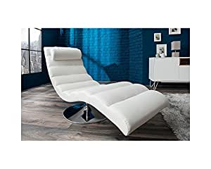 Fauteuil design relax blanc Clara