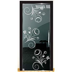 DD Dotzler Design 2111-14 Fensterfolie Motiv Blume Rose retro vintage Blumen Milchglasfolie Glas Aufkleber Sichtschutz