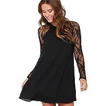 more photos 0813c b6691 Amazon.it: vestito corto ragazza - Nero