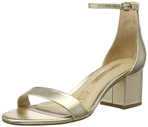 Buffalo London Damen ZS 6584-16 Soft Metallic Knöchelriemchen, Gold (Gold 01), 39 EU