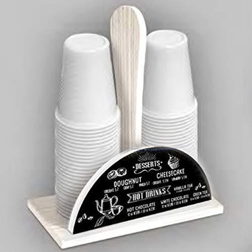 Lupia porta bicchieri con decoro lavagna in legno naturale shabby chic cucina