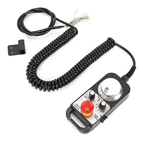 Colgante con cable del volante MPG para la conmutación de parada de emergencia de la máquina del router del molino del CNC 4 Axis