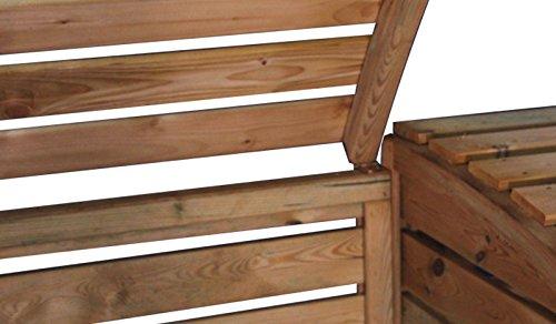 Mülltonnenbox aus Holz, Mülltonnenverkleidung – zweifach (für 2 Tonnen bis 240 Liter), wetterfest und somit ideal für draußen / Outdoor geeignet - 5