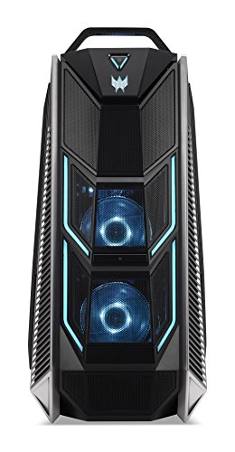 Acer Predator Orion 9000 Desktop PC, Processore Intel Core i9 7900X, RAM da 32 GB DDR4, 256 GB SSD, 2 TB HDD, Scheda Grafica Nvidia GTX-1080 Ti 11GB, Nero