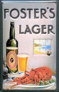 fosters-lager-aragosta-embossed-metal-sign-hi-2030