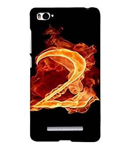PrintVisa 2 Number Fire Design 3D Hard Polycarbonate Designer Back Case Cover for Xiaomi Redmi Mi4i