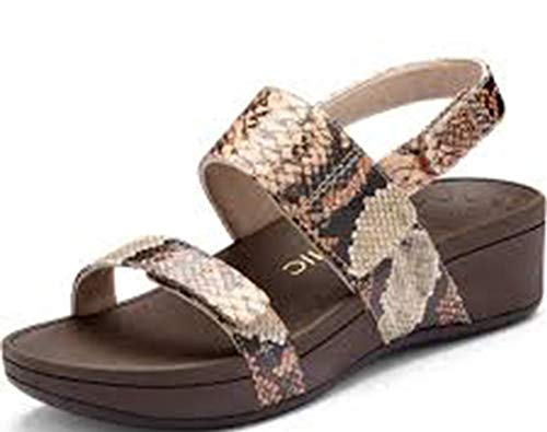 VIONIC Womens 382 Bolinas Pacific Tan Snake Leather Sandals 37 EU Snake-leather-tan