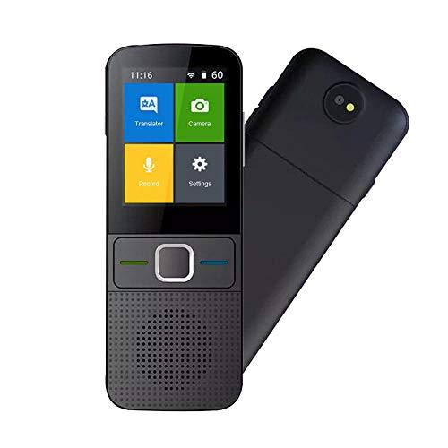 TEEPAO Smart Sprachübersetzer Device, 137 Sprachen Zwei-Wege Echtzeit WiFi/Offline Sofortige Übersetzung Mit 2,4 Zoll Farb-Touchscreen, Voice/Text/Aufnahme/Foto-Übersetzer-Gerät