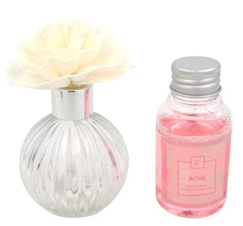 Diffuseur de parfum soliflore forme fleur senteur rose