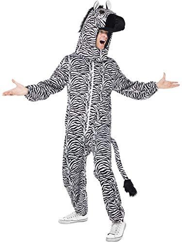 costumebakery - Herren Männer Kostüm Plüsch Zebra Fell -