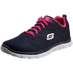 Skechers - Flex AppealObvious Choice, Sneakers donna, color Blu (NVPK), talla 39