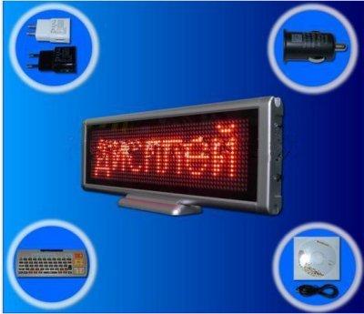 Gowe 1/LED Digital Board/p4mm/Tisch Mini/Multimedia LED/USB COM/wiederaufladbar Elektronische Schild/MEETING Schreibtisch Bildschirm (Multimedia-tisch)