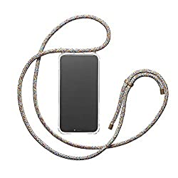 KNOK Handykette für iPhone 8/7- Silikon Hülle mit Band - Handyhülle für Smartphone zum Umhängen - Transparent Case mit Schnur - Schutzhülle mit Kordel in Unicorn