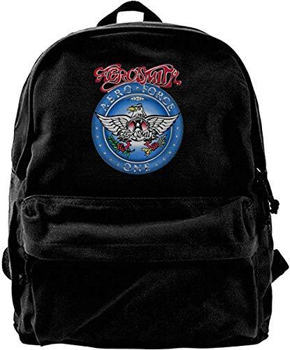 Canvas Backpack Aerosmith Aero Rucksack Gym Hiking Laptop Shoulder Bag Daypack for Men Women -