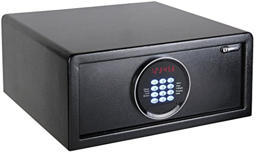 Chilitec Tresor Safe mit elektronischem Zahlenschloss I Display I Motor. Öffnung I Sicherung von Wertsachen im Büro Hotel Haus I 20x43x37cm -
