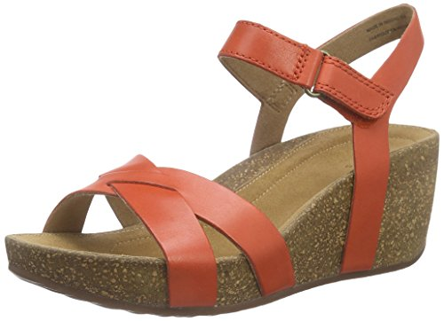 Clarks Temira Compass - Sandalias para Mujer, color Grenadine Leather, talla 37